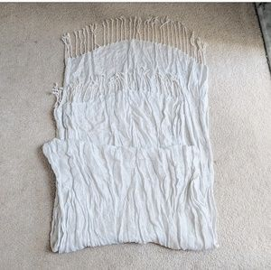 White silver shimmer scarf